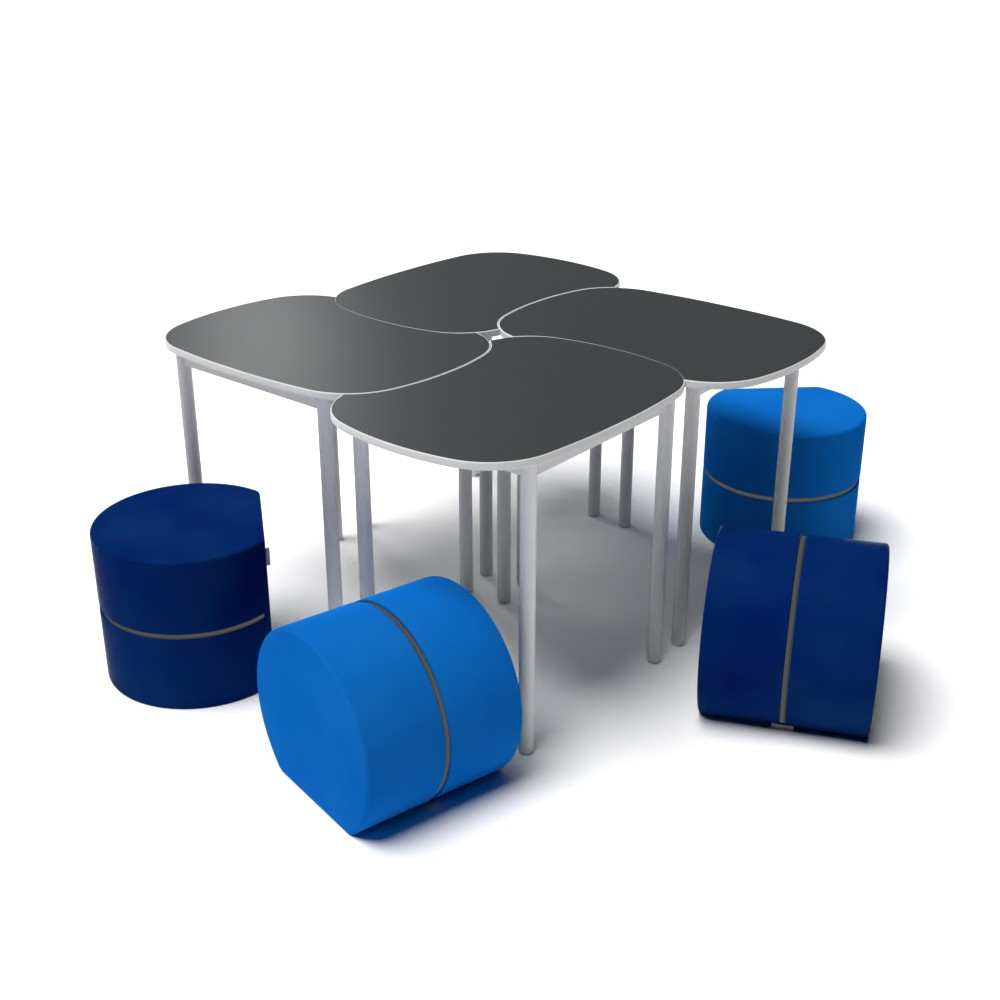 Rounded Square Collection P01 | Beparta Flexible School Furniture