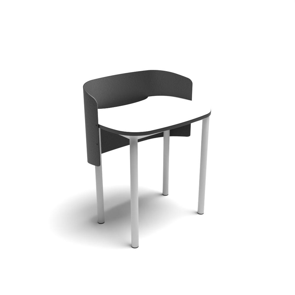 Rounded Square Study Carrel | Beparta Flexible School Furniture