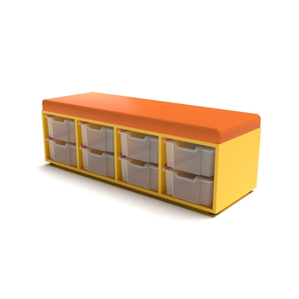 Storage Upholstered Caddy 8 Tray | Beparta Flexible School Furniture