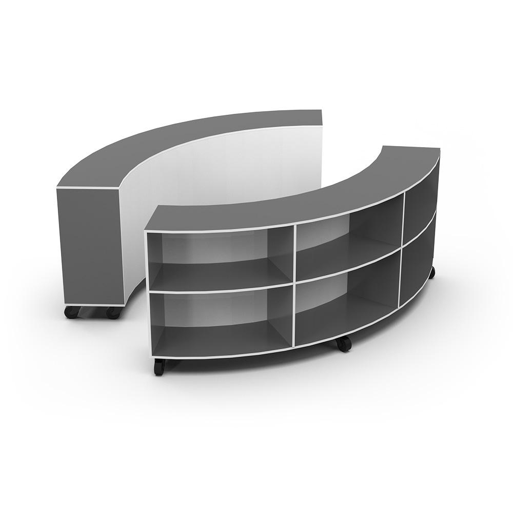 Curved Jnr Bookcase | Beparta Flexible School Furniture