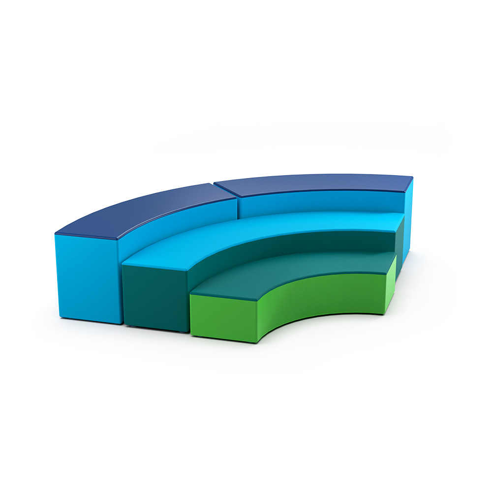 Curved Qtr Snr Collection C029 | Beparta Flexible School Furniture
