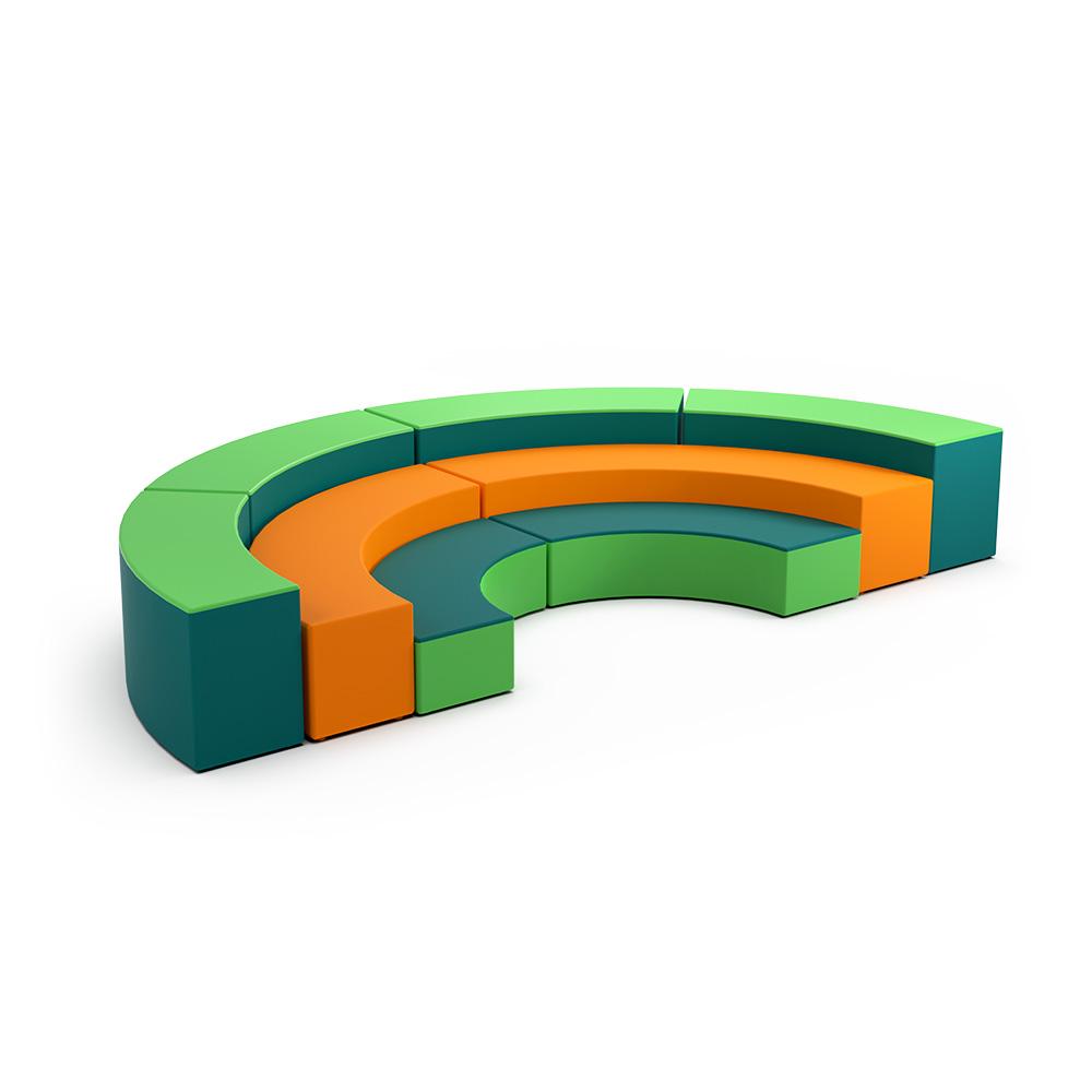 Curved Semi Snr Collection C033 | Beparta Flexible School Furniture