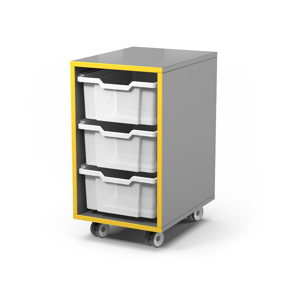 Storage Snr Caddy (3-Tray) C052 | Beparta Flexible School Furniture