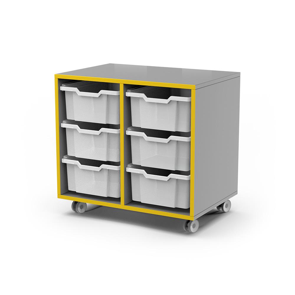 Storage Snr Caddy (6 Tray) C053 | Beparta Flexible School Furniture
