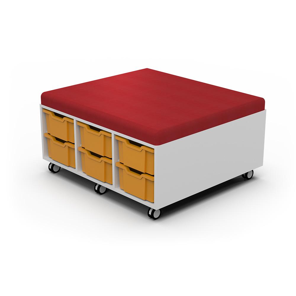 Storage Upholstered Caddy (12 Tray) C078 | Beparta Flexible School Furniture