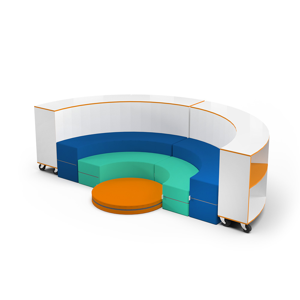 Curved Jnr Bookcase Collection C039 | Beparta Flexible School Furniture